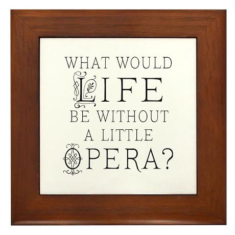 Opera Singer Gift Framed Tile