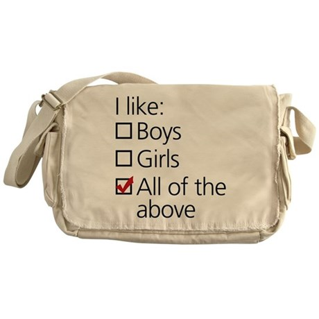 I Like Boys AND Girls Messenger Bag
