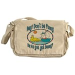 Bunny, Duck and Boat Messenger Bag