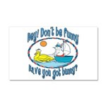 Bunny, Duck and Boat Car Magnet 20 x 12
