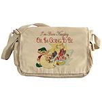 Naughty Elf & Santa Messenger Bag