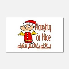 Naughty or nice Car Magnet 20 x 12