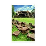Angkor Wat Ruined Causeway Sticker (Rectangle 10 p