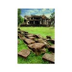 Angkor Wat Ruined Causeway Rectangle Magnet (100 p