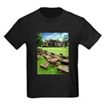 Angkor Wat Ruined Causeway Kids Dark T-Shirt