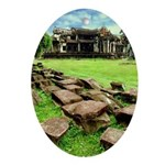 Angkor Wat Ruined Causeway Ornament (Oval)