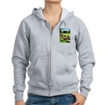 Angkor Wat Ruined Causeway Women's Zip Hoodie