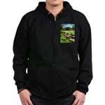 Angkor Wat Ruined Causeway Zip Hoodie (dark)