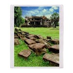 Angkor Wat Ruined Causeway Throw Blanket