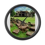 Angkor Wat Ruined Causeway Large Wall Clock