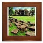 Angkor Wat Ruined Causeway Framed Tile