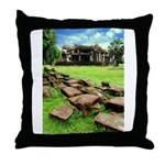 Angkor Wat Ruined Causeway Throw Pillow