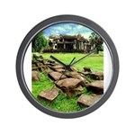 Angkor Wat Ruined Causeway Wall Clock