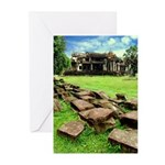 Angkor Wat Ruined Causeway Greeting Cards (Pk of 2