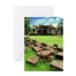 Angkor Wat Ruined Causeway Greeting Card