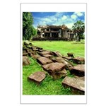 Angkor Wat Ruined Causeway Large Poster