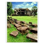 Angkor Wat Ruined Causeway Small Poster