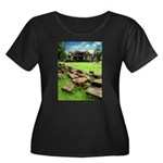 Angkor Wat Ruined Causeway Women's Plus Size Scoop