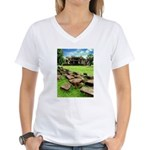 Angkor Wat Ruined Causeway Women's V-Neck T-Shirt