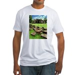 Angkor Wat Ruined Causeway Fitted T-Shirt