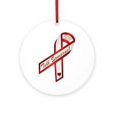 Tell Someone Ribbon Campaign Ornament (Round)