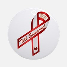 Tell Someone Ribbon Campaign Ornament (Round)
