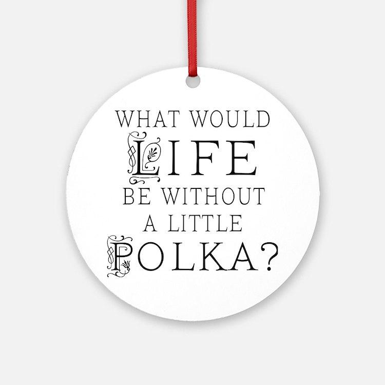 Polka Gift Ornament (Round)