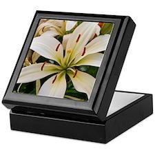 White Lily Keepsake Box