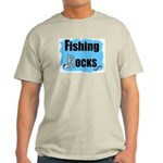 FISHING ROCKS Ash Grey T-Shirt