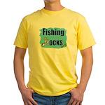 FISHING ROCKS Yellow T-Shirt