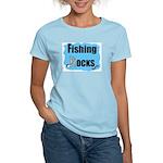 FISHING ROCKS Women's Pink T-Shirt