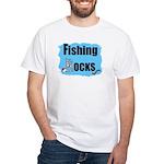 FISHING ROCKS White T-Shirt