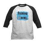 FISHING ROCKS Kids Baseball Jersey