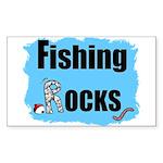 FISHING ROCKS Rectangle Sticker