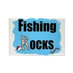 FISHING ROCKS Rectangle Magnet