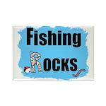 FISHING ROCKS Rectangle Magnet (100 pack)