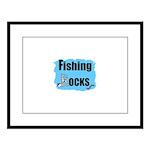 FISHING ROCKS Large Framed Print