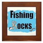 FISHING ROCKS Framed Tile