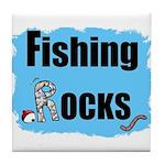 FISHING ROCKS Tile Coaster