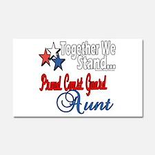 Coast Guard Aunt Car Magnet 20 x 12