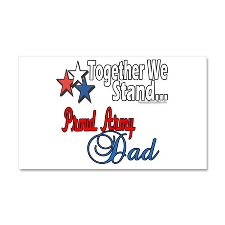 Army Father Car Magnet 20 x 12