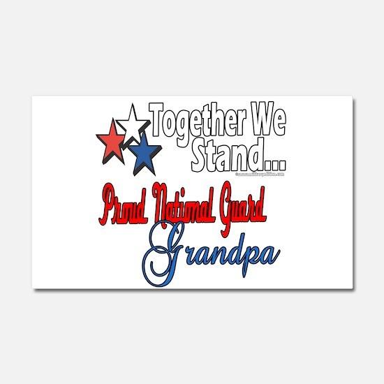 National Guard Grandpa Car Magnet 20 x 12