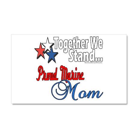 Proud Marine Mom Car Magnet 20 x 12
