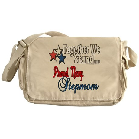 Proud Navy Stepmom Messenger Bag