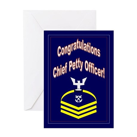 Congratulations Chief Petty O Greeting Card