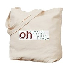 Cute Army phonetics Tote Bag