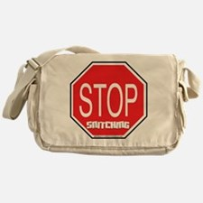 Stop The Snitching Messenger Bag