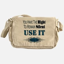 Right To Remain Silent Messenger Bag