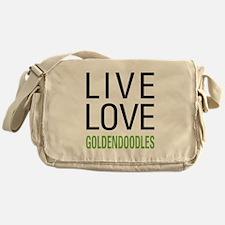 Live Love Goldendoodles Messenger Bag