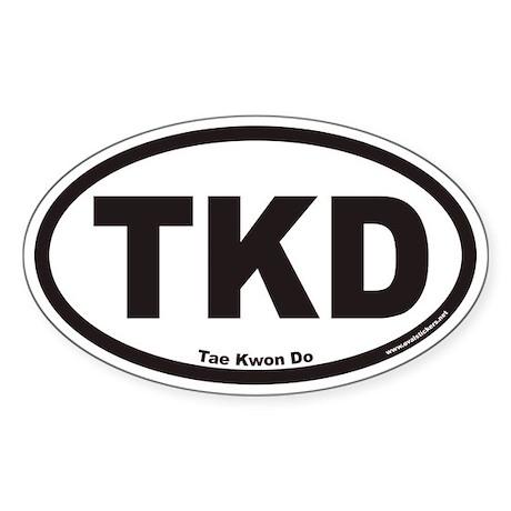 Tae Kwon Do TKD Euro Oval Sticker